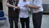Nemačko veče - sa leva Hauke Schmidt Masud i Vinko Schimek